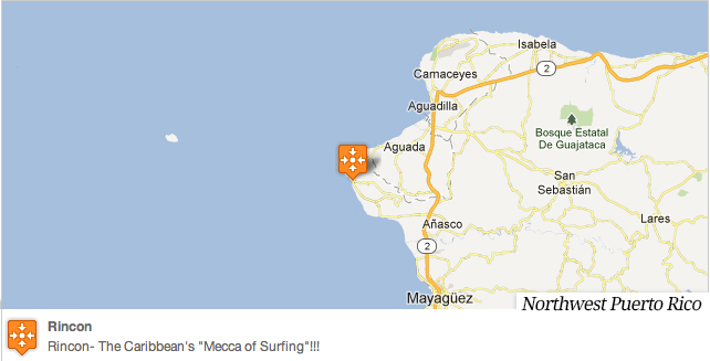 """Surf Lessons Puerto Rico is located in Rincon. The Caribbean's """"Mecca of Surfing"""""""